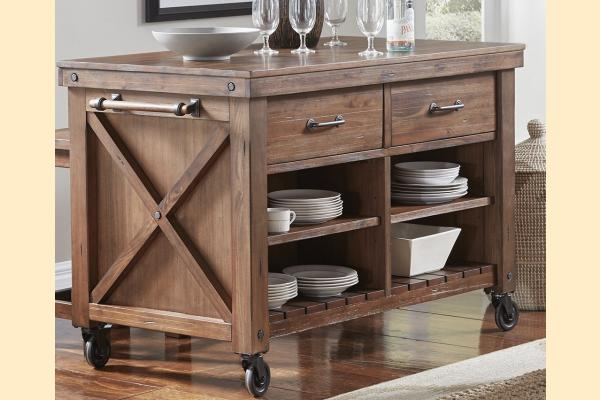 A-America Anacortes Kitchen Island w/Wood Top