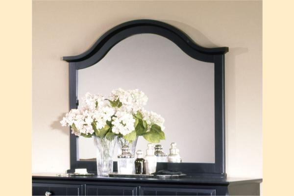 Vaughan Bassett Cottage-Black Landscape Mirror for Triple Dresser