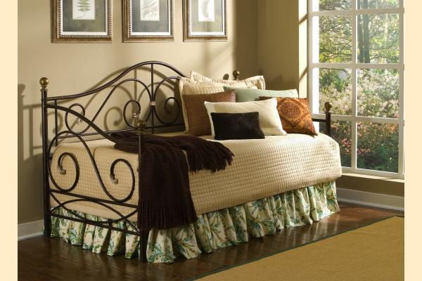 Largo Boston Daybed w/Caramel Finish and Gold Accents