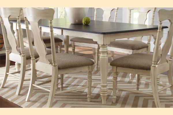 Largo Bristol Cottage Rectangular Dining Table w/ One 18 Inch Leaf