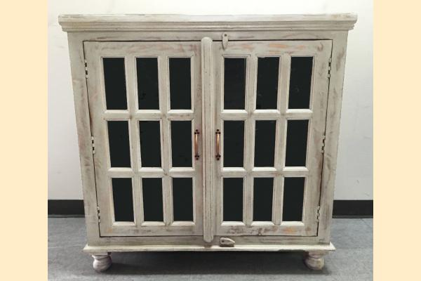 Largo Rustic Collectibles 2 Door Sideboard-Distressed Grey/Seafoam