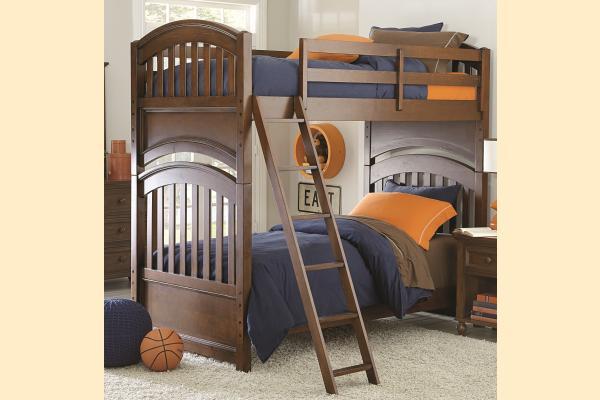Legacy Kids Academy-Cinnamon Twin over Twin Bunk Bed