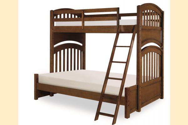 Legacy Kids Academy-Cinnamon Twin over Full Bunk Bed