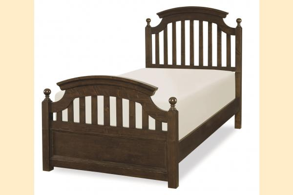 Legacy Kids Academy-Molasses Twin Panel Bed