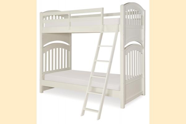 Legacy Kids Academy-White Twin over Twin Bunk Bed