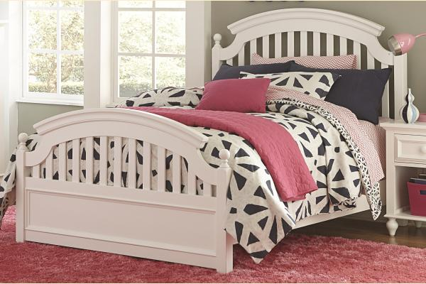 Legacy Kids Academy-White Full Panel Bed