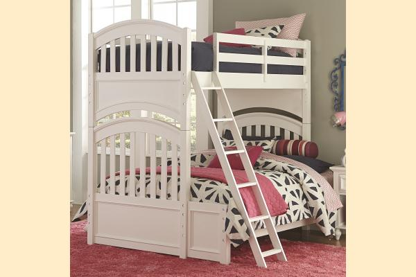 Legacy Kids Academy-White Twin over Full Bunk Bed