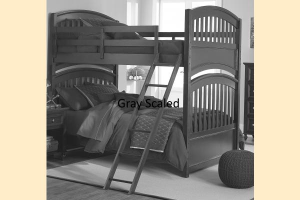Legacy Kids Academy-White Full over Full Bunk Bed