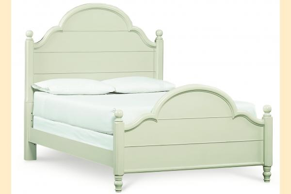 Legacy Kids Inspirations-Seashell White Full Westport Low Poster Bed