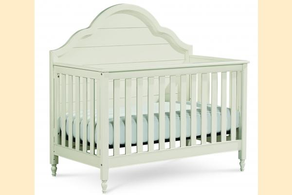 Legacy Kids Inspirations-Seashell White Grow With Me Convertible Crib **Customer Assembly Required**