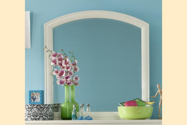 Legacy Kids Park City White Arched Dresser Mirror