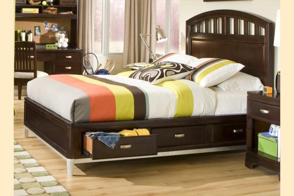Legacy Kids Park City Twin Platform Storage Bed w/ Brushed Nickel Legs
