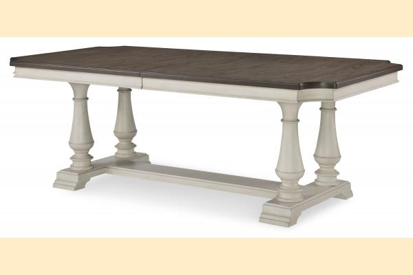 Legacy Brookhaven Trestle Table w/ 2 18 Inch Leaves