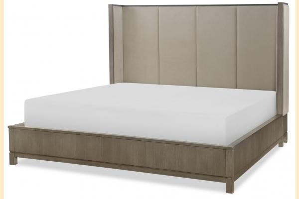 Legacy High Line King Upholstered Shelter Bed