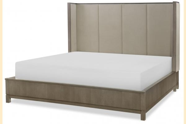Legacy High Line Cal-King Upholstered Shelter Bed
