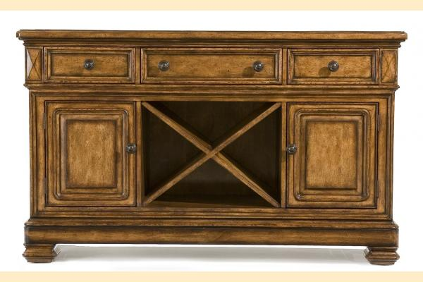 Legacy Larkspur Credenza w/Granite Inlay sides expand to 90