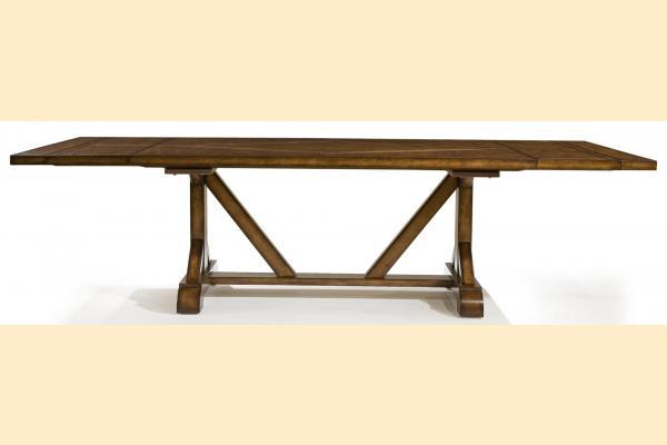 Legacy Larkspur Rectangular Trestle Table with 2 14