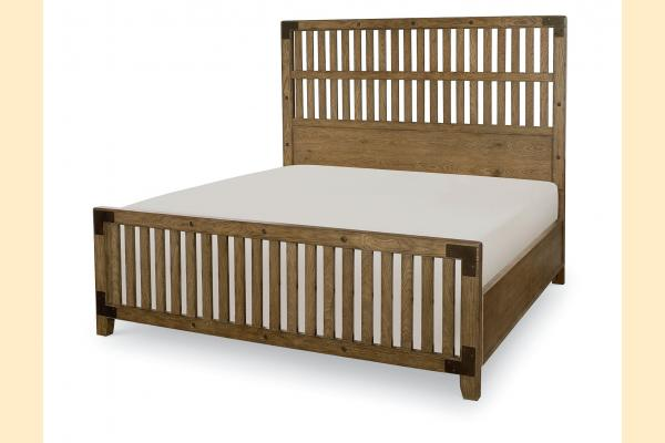 Legacy Metalworks Queen Wood Gate Bed