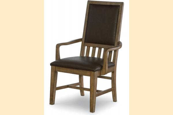 Legacy Metalworks Upholstered Back Arm Chair