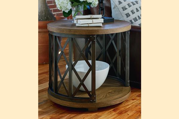 Legacy Metalworks Round Lamp Table
