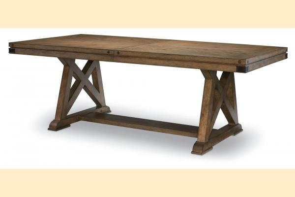 Legacy Metalworks Trestle Table w/ One 24 Inch Leaf