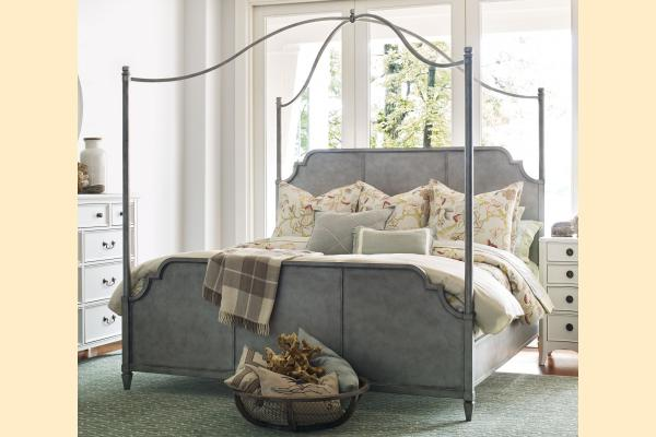 Legacy Upstate Queen Metal Canopy Bed