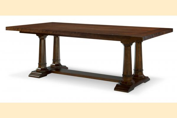 Legacy Upstate Trestle Dining Table w/ Two 12 Inch Leaves