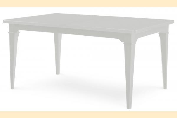 Legacy Upstate Leg Table w/ One 18 Inch Leaf-Bianco
