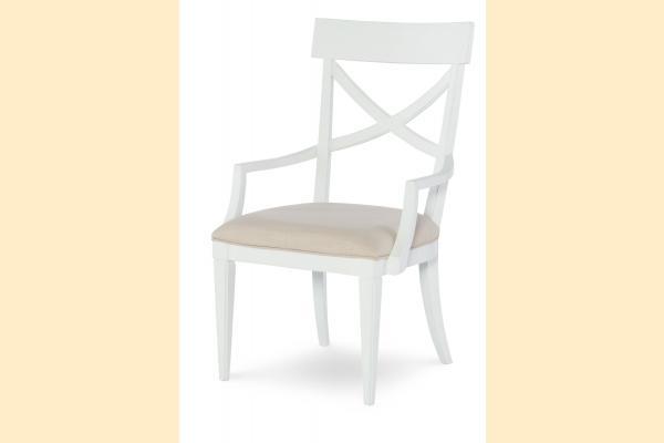 Legacy Upstate X Back Arm Chair-Bianco