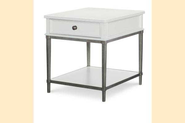 Legacy Upstate End Table-Bianco