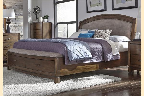 Liberty Avalon III Upholstered King Storage Bed