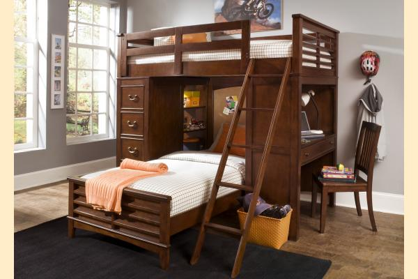 Liberty Chelsea Square Youth Twin Loft Bed W/Cork Bed