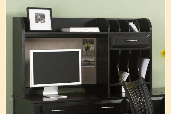 Liberty Hampton Bay Office-Black Writing Desk Hutch