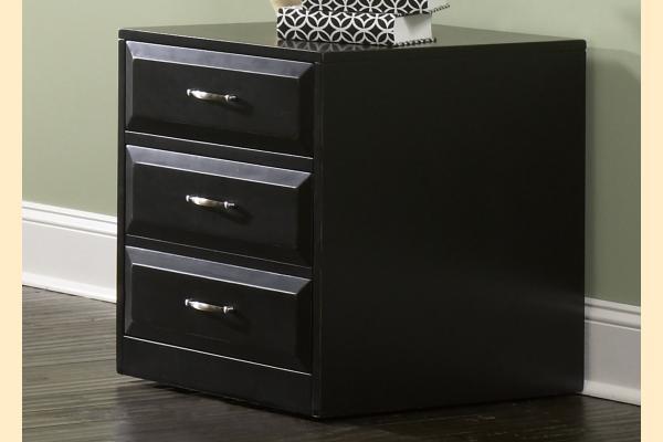 Liberty Hampton Bay Office-Black Mobile File Cabinet