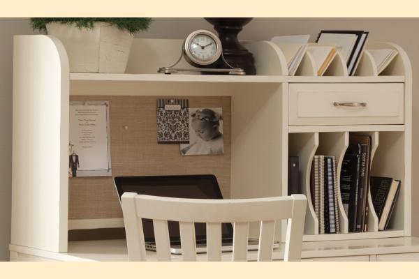 Liberty Hampton Bay Office-White Writing Desk Hutch