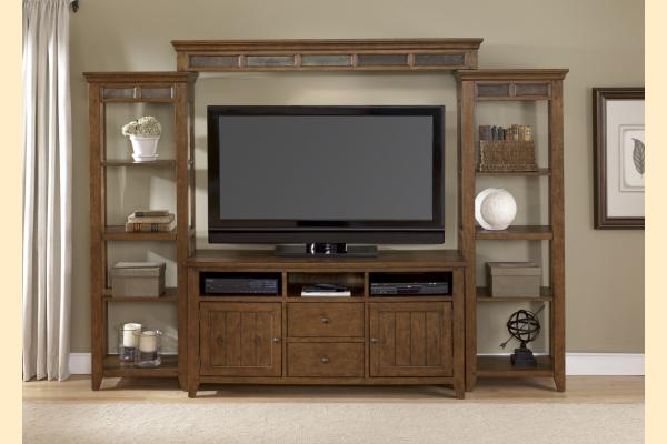 Liberty Hearthstone Complete Entertainment Center with Piers