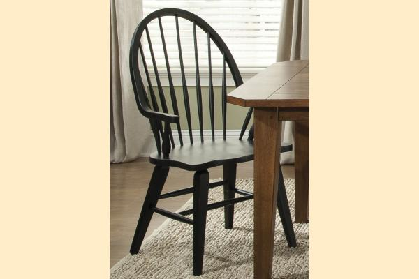 Liberty Hearthstone Windsor Back Arm Chair-Black