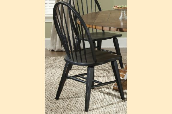 Liberty Hearthstone Windsor Back Side Chair-Black