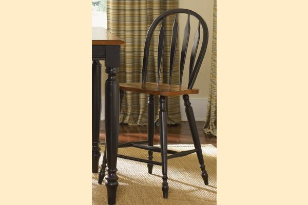 Liberty Low Country Dining-Black Windsor Back Barstool