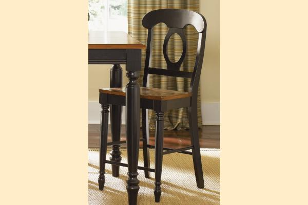 Liberty Low Country Dining-Black Napoleon Back Barstool