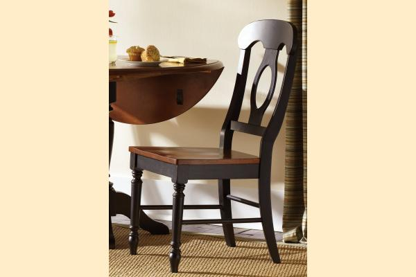 Liberty Low Country Dining-Black Napoleon Back Side Chair