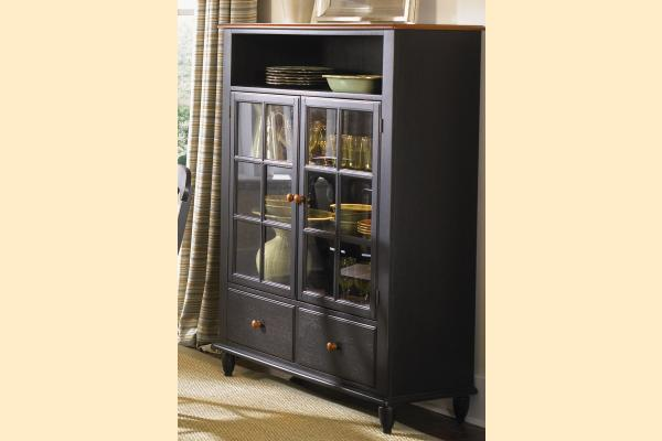 Liberty Low Country Dining-Black Curio Cabinet