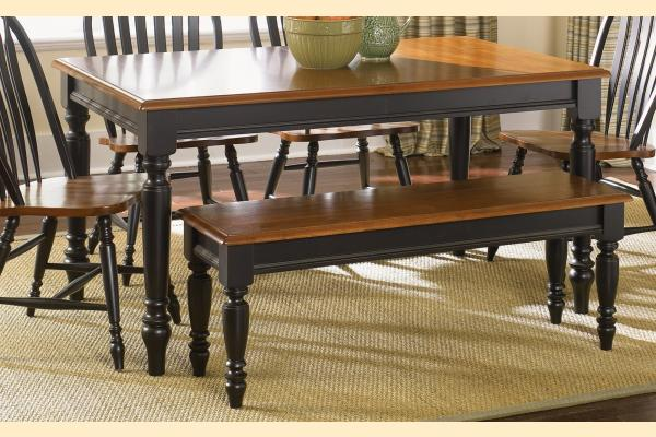 Liberty Low Country Dining-Black Rectangular Leg Table w/ 1 18 Inch Leaf