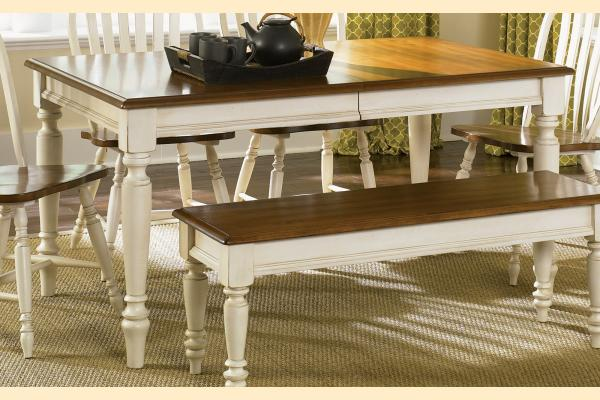 Liberty Low Country Dining-Sand Rectangular Leg Table