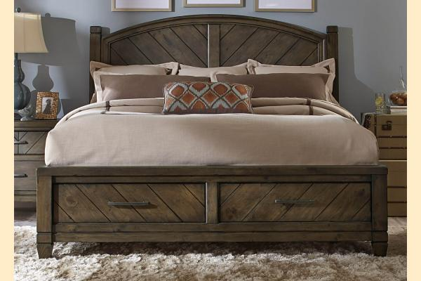 Liberty Modern Country Queen Storage Bed