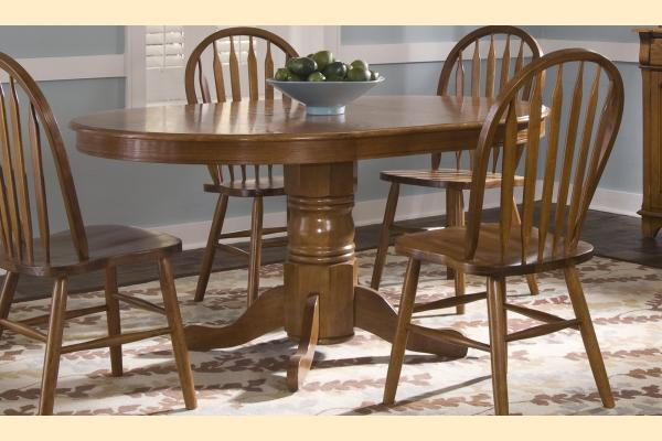 Liberty Nostalgia Oval Pedestal Table