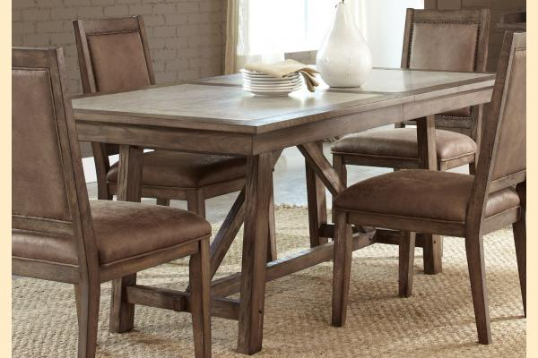 Liberty Stone Brook Trestle Table w/ One 18