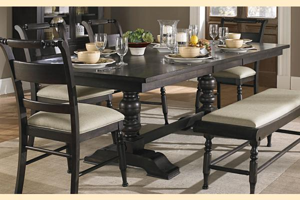 Liberty Whitney Casual Dining Trestle Table w/ One 20