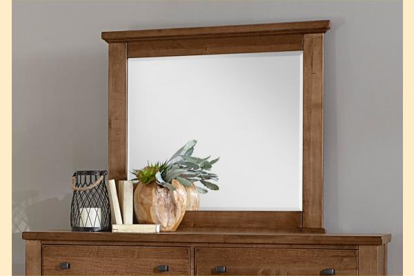 VB Artisan & Post  Cool Rustic-Amber Landscape MIrror