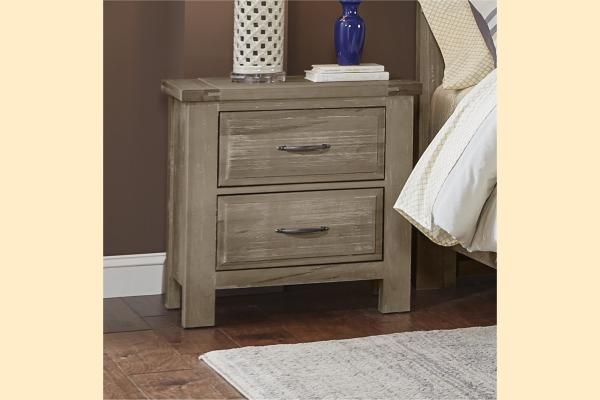 VB Artisan & Post  Maple Road-Weathered Gray Night Stand
